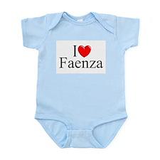 """I Love (Heart) Faenza"" Infant Bodysuit"