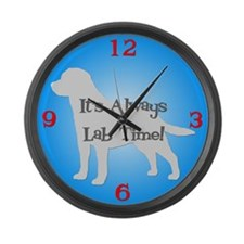 LAB TIME Blue Large Wall Clock