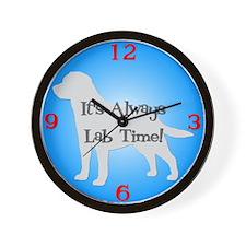 LAB TIME Blue Wall Clock