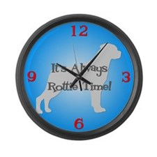 ROTTIE TIME Blue Large Wall Clock