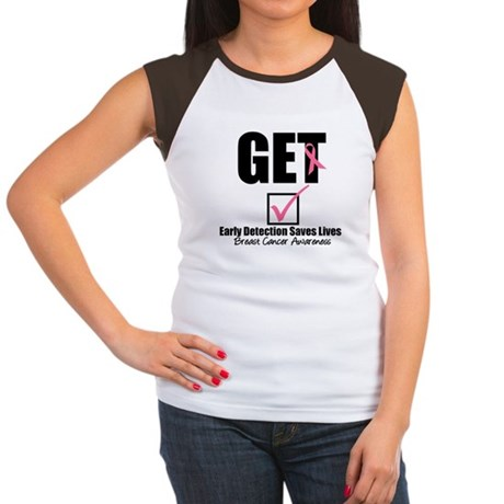 Breast Cancer Get Checked Women's Cap Sleeve T-Shi