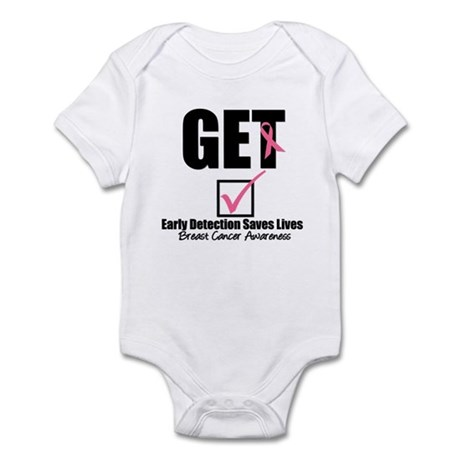 Breast Cancer Get Checked Infant Bodysuit