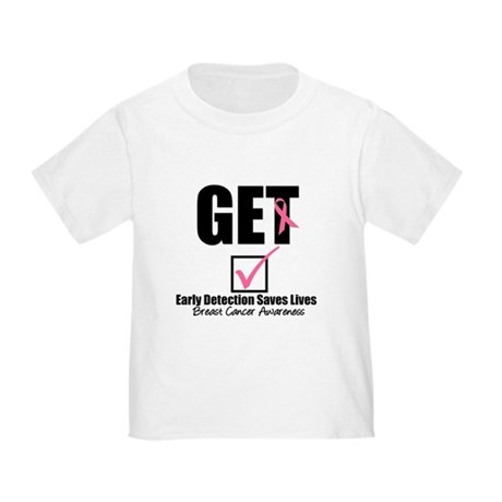 Breast Cancer Get Checked Toddler T-Shirt