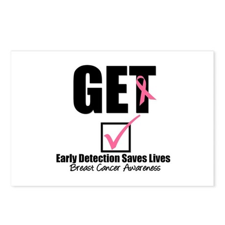 Breast Cancer Get Checked Postcards (Package of 8)