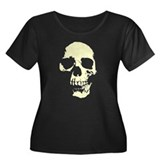 Vintage Skull #1 Women's Plus Size Scoop Neck Dark