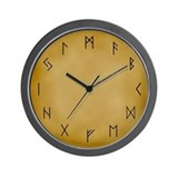 Viking Runes Wall Clock