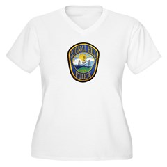 Signal Hill Police Women's Plus Size V-Neck T-Shir