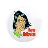 Halloween Crone 3.5&amp;quot; Button