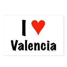I love Valencia Postcards (Package of 8)