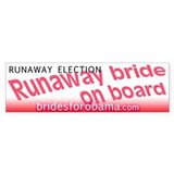 Runaway election Obama Bumper Bumper Sticker