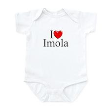 """""""I Love (Heart) Imola"""" Infant Bodysuit"""