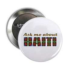 """Cute Haiti map 2.25"""" Button (10 pack)"""