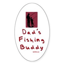 Dad's Fishing Buddy Oval Decal