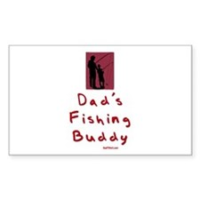 Dad's Fishing Buddy Rectangle Decal