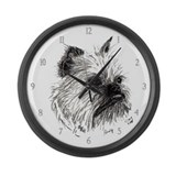 Brussels Griffon Andy Large Wall Clock
