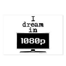 I Dream in 1080p! Postcards (Package of 8)