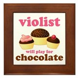 Funny Chocolate Viola Framed Tile