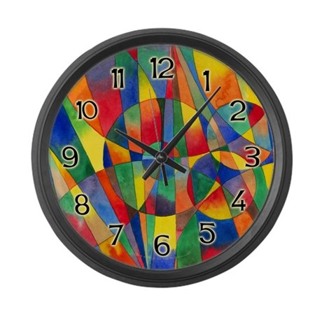 Color Shards Large Wall Clock