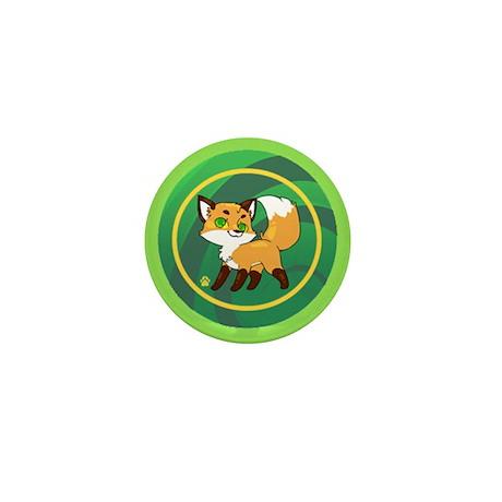 Mini Button - Fox