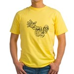 Jack Kirby Wedgehead Yellow T-Shirt