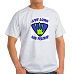Live Long And Prosper Ash Grey T-Shirt