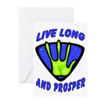 Live Long And Prosper Greeting Cards (Pk of 10