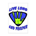 Live Long And Prosper Mini Poster Print