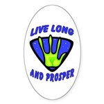 Live Long And Prosper Oval Sticker