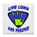 Live Long And Prosper Tile Coaster
