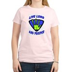 Live Long And Prosper Women's Pink T-Shirt