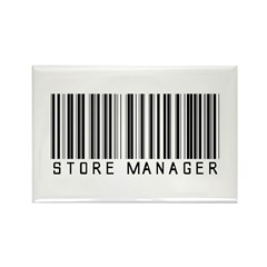 Store Manager Barcode Rectangle Magnet (100 pack)
