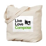 Brahms' Live Love Compose Tote Bag