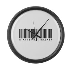 Statistics Teacher Barcode Large Wall Clock