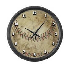 The Baseball... Large Wall Clock