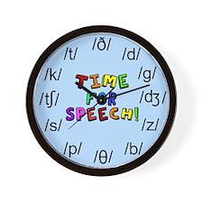 Time for Speech Wall Clock