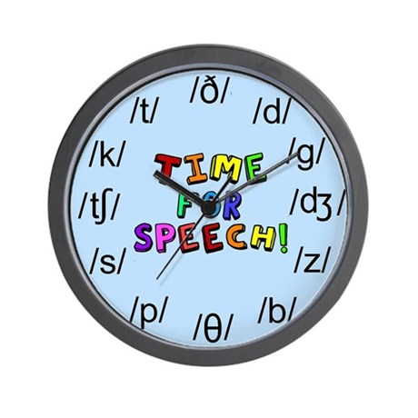 Time for Speech Wall Clock