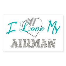 I Heart My Airman Rectangle Decal
