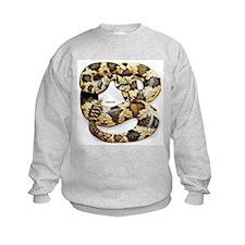 Rattlesnake Snake (Front) Sweatshirt