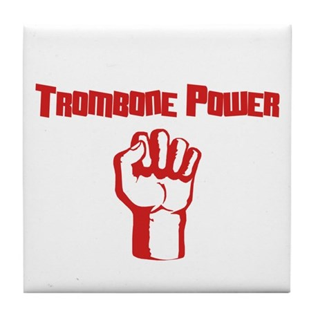 Trombone Power Tile Coaster