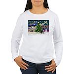XmasMagic/Black Dane Women's Long Sleeve T-Shirt