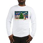 Xmas Magic & Gr Dane Long Sleeve T-Shirt