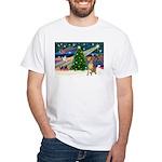 Xmas Magic & Gr Dane White T-Shirt
