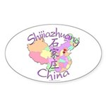 Shijiazhuang China Oval Sticker (10 pk)