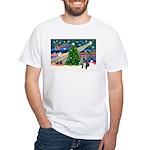 XmasMagic/French BD (BW) White T-Shirt