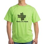 there. it's fixed. duct tape Green T-Shirt