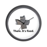 there. it's fixed. duct tape Wall Clock