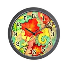 Autumn Wind Watercolor Wall Clock