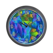 Planet Earth Art Wall Clock