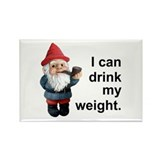 Drink my weight, Gnome Rectangle Magnet