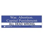 Dead Wrong Bumper Sticker (10 pk)